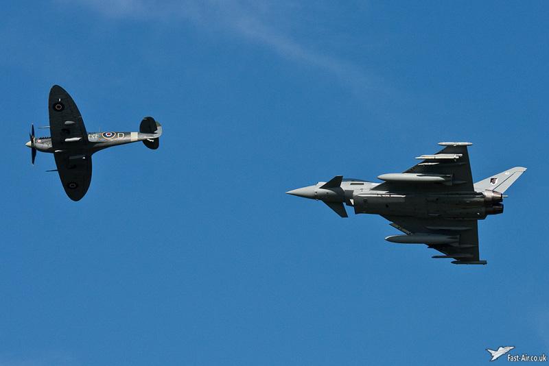 Typhoon and Spitfire display #1
