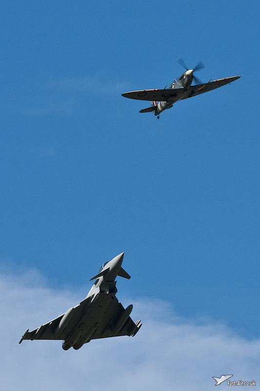 Typhoon and Spitfire display #2
