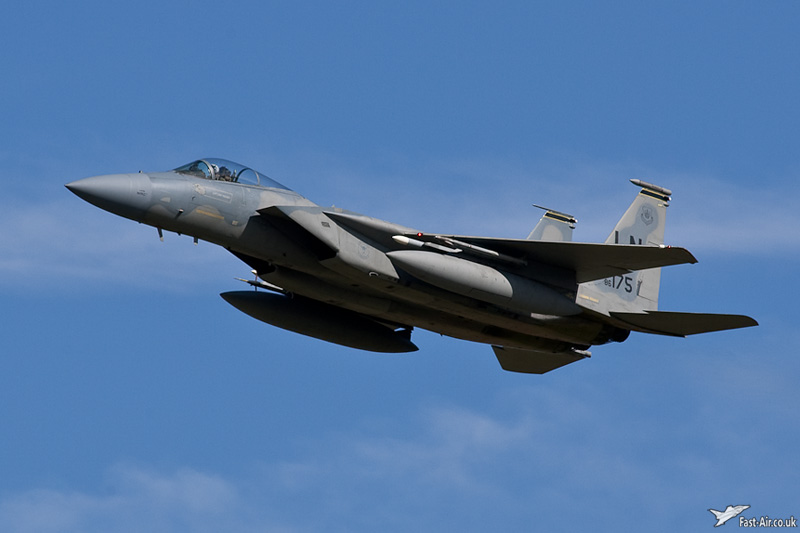 USAF Europe F-15C 86-0175 overshoots