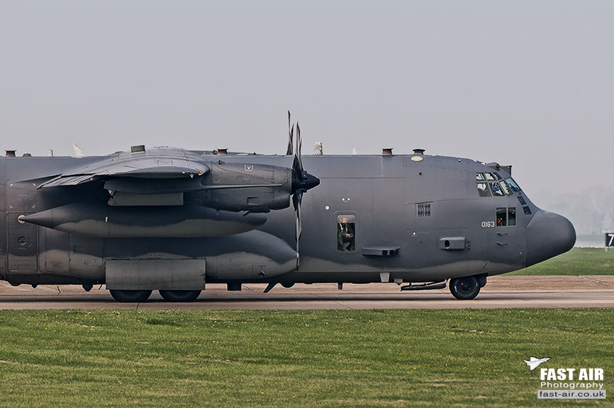 USAF AC-130U 90-0163 on the taxiway