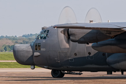 USAF SOG MC-130H 87-0023 holding on the taxiway